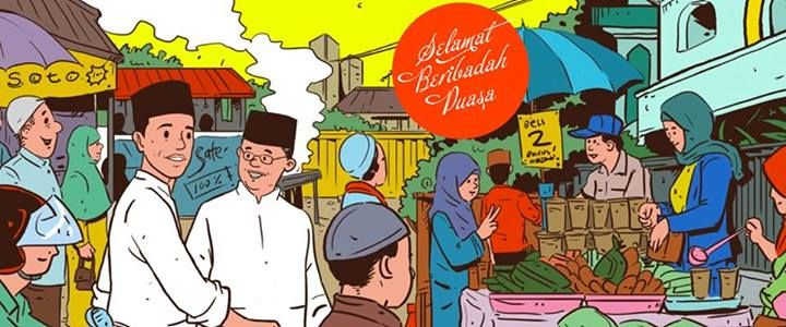 In the style of Tintin, Indonesian presidential campaign Jokowi
