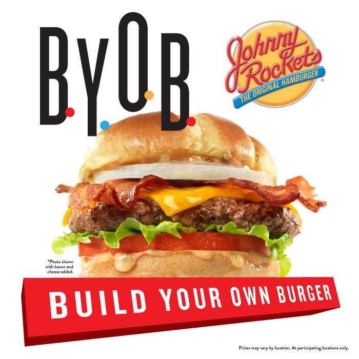 New At Johnnyrockets Build Your Own Burger Start With A 100