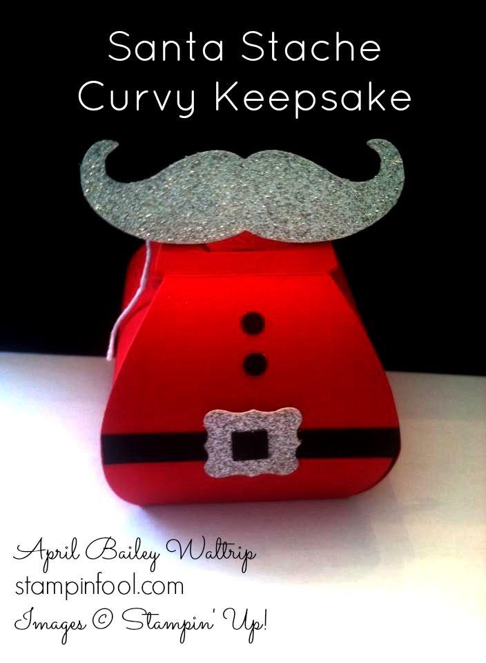 Stampin Up Santa Stache Curvy Keepsake by April Waltrip at Stampin Fool