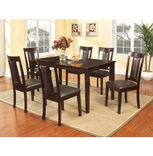 60 dining table 6 chairs dinettes dining rooms art van