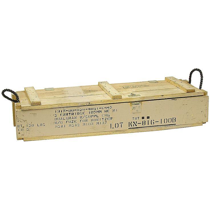 Wood Ammo Box | Ammo Boxes & Cases | Miscellaneous | www.surpluscenter.com