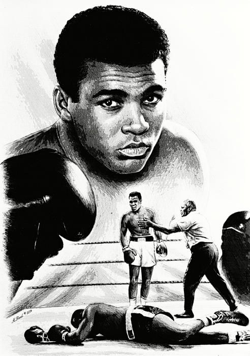 Muhammad Ali..The Greatest. A pencil drawing of Muhammad Ali  by Andrew Read