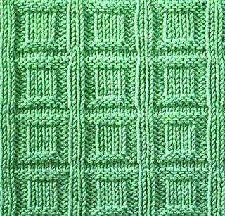 Knitting Galore: Sturday Stitch: Square Buttons