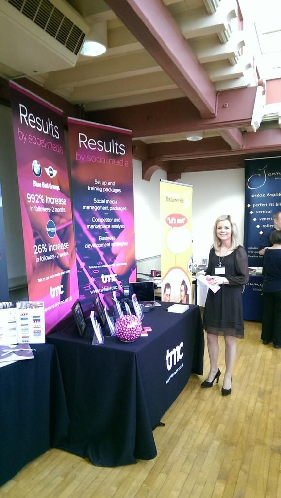 Kate at the East Cheshire Chamber of Commerce annual open day in Congleton Town Hall.