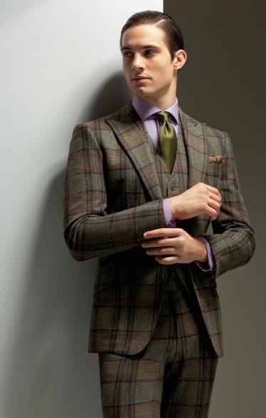 Love a man in a good plaid suit