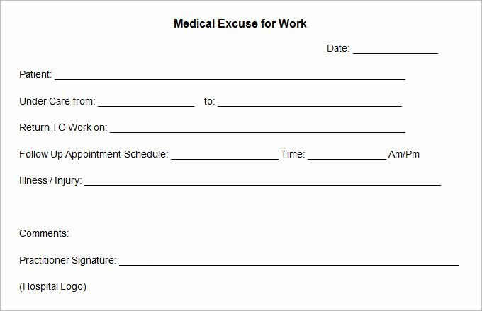 free printable doctors excuse awesome 8 best of blank
