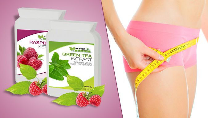 120 Raspberry Ketone and Green Tea Capsules Manage your weight with these Raspberry Ketone and Green Tea Capsules      Each pack contains 60 capsules      Aims to help you lose weight      An ideal weight management supplement      Green tea formula is a high antioxidant      Boost metabolism and detox your body      Take one green tea capsule daily with water      Take one raspberry ketone...