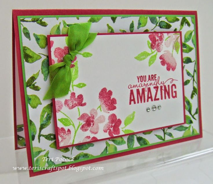 Stampin' Up! - Painted Petals  Teri Pocock - http://teriscraftspot.blogspot.co.uk/2015/01/painted-petals.html