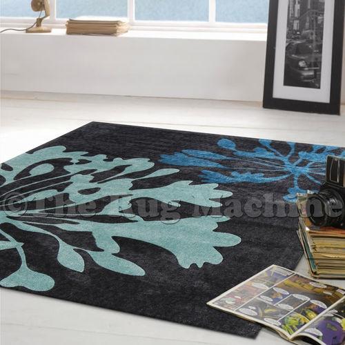 Juno Charcoal Grey Modern Trendy Designer Floor RUG 110x160 RRP 300 NEW