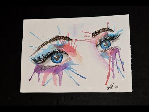Watercolor eyes  https://youtu.be/jsUe55ktp8I