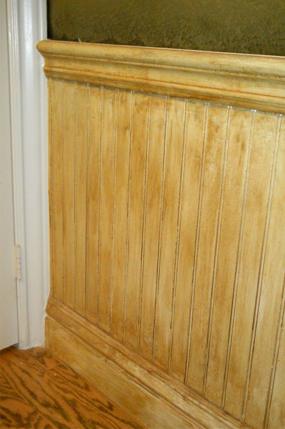 Waynes Coating Wainscoting With Antique Finish Waynes