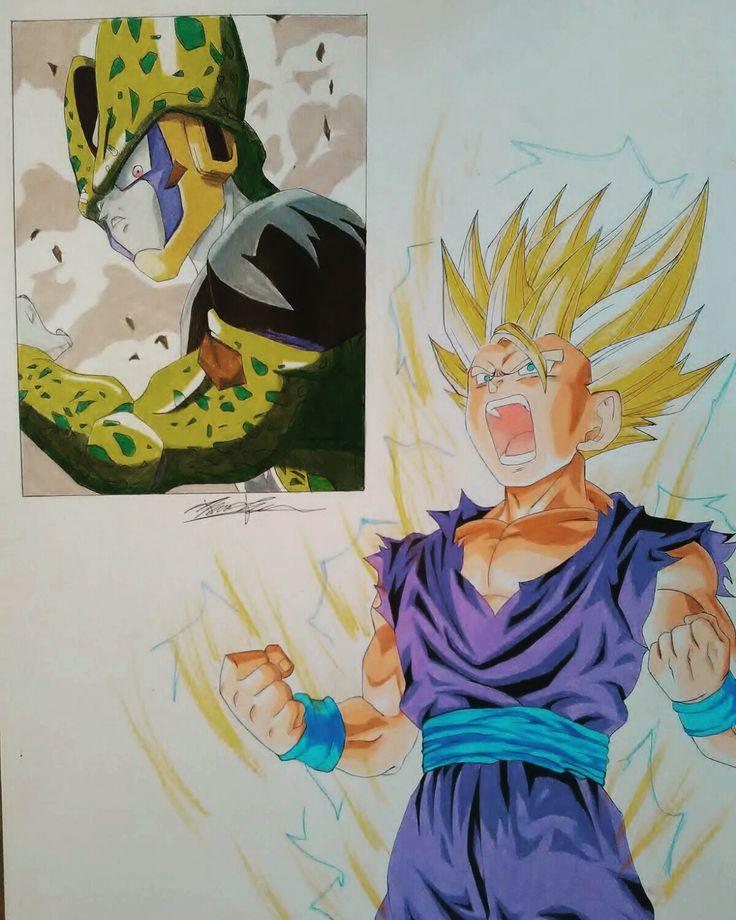 Prismacolor colored pencil drawing of Gohan SSJ2 #gohan #ssj3 #dbz #dragonballz #anime #manga #