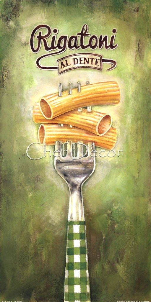 Rigatoni Fine-Art Print by Elisa Raimodi at ChefDecor.com.
