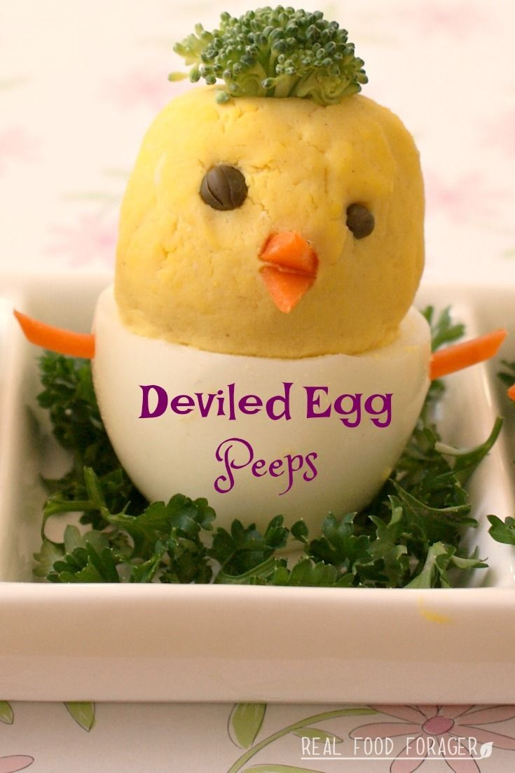 Recipe: Deviled Egg Peeps. These are the cutest deviled eggs adn fun to make!