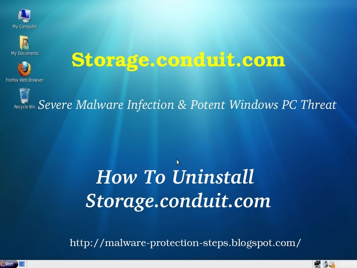 Instructions to Remove Storage.conduit.com.