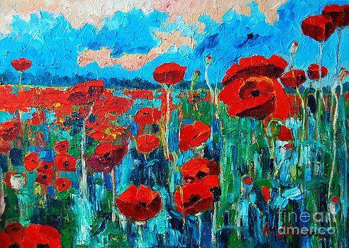 Sunset Poppies by Ana Maria Edulescu
