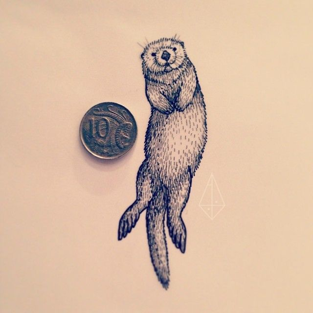 Pencil Drawings Of Otters In Clothes