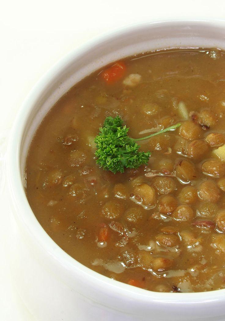 Sopa vegetariana de lentilha
