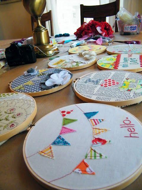 very cute embroidery hoop art