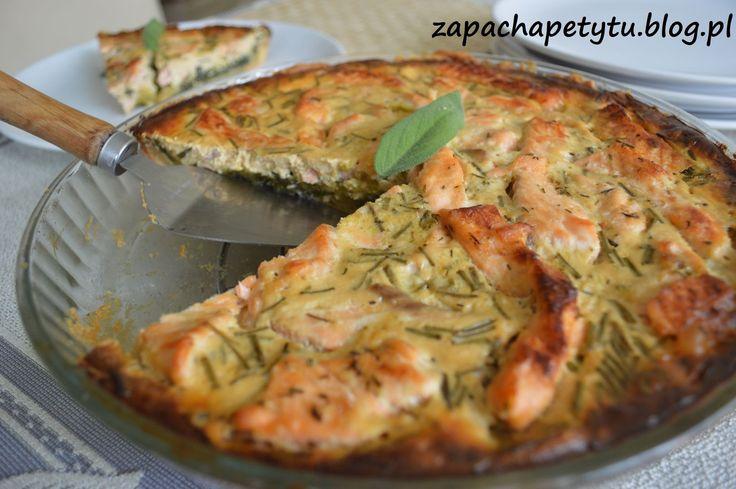 Tarta z łososiem i szpinakiem #salmon #tart #spinach #foodblog #frenchfood #polishgirl
