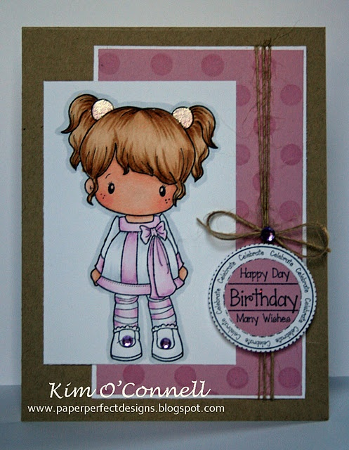 C.C. Designs Party Time Lucy  and Birthday Logos rubber stamps
