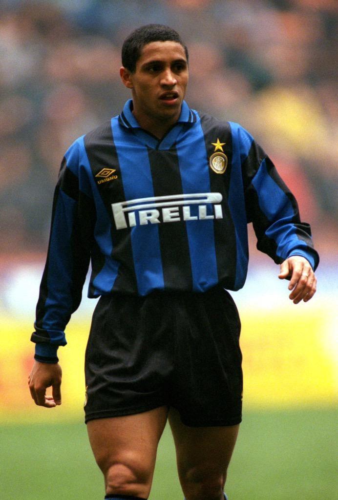 Former Inter Milan left back Roberto Carlos 1995/96