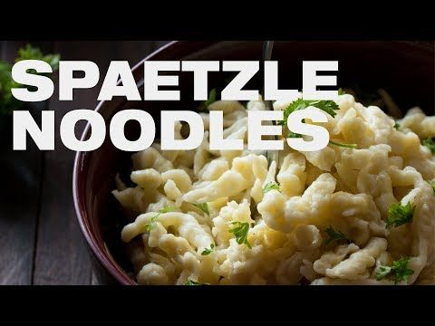 Easy Spaetzle Recipe - How to make perfect Spätzle Noodles with Spaetzle maker [+Video]