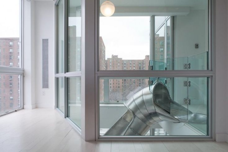 Duplex Apartment with a Helical Slide in New York City | HomeDSGN, a daily source for inspiration and fresh ideas on interior design and home decoration.