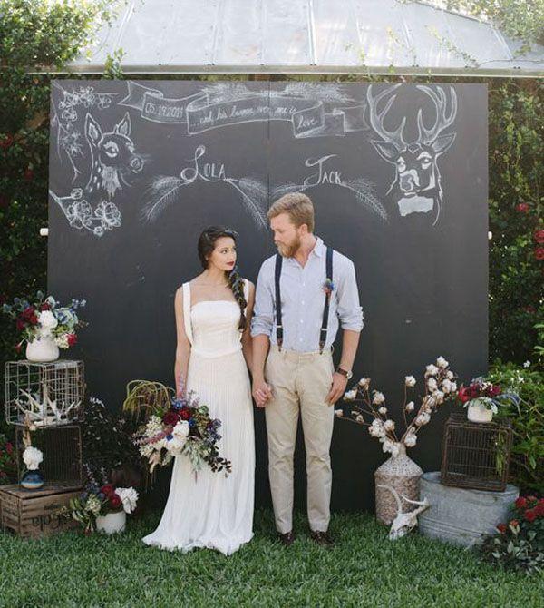 chalkboard backdrop