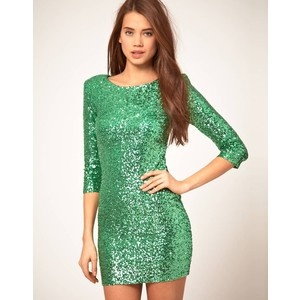 seafoam green sparkly dress? i think yes!