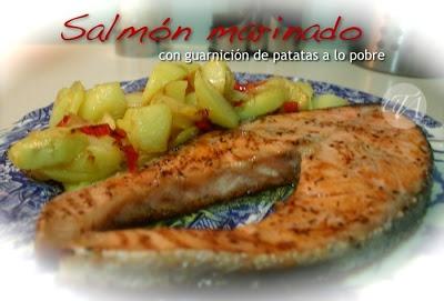 Marinated Salmon with Spanish-style potatos