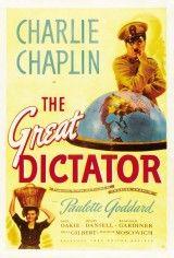 CINE(EDU)-735(6). El gran dictador. Dir. Charles Chaplin. EEUU, 1940. Comedia. Un humilde barbeiro xudeu ten un parecido asombroso co ditador de Tomania, un tirano que culpa os xudeus da crítica situación que atravesa o país. Un día, os seus propios gardas confúndeno co barbeiro e lévano a un campo de concentración. Ao mesmo tempo, ao pobre barbeiro confúndeno co tirano.http://kmelot.biblioteca.udc.es/record=b1510752~S1*gag