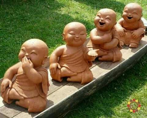 The 4 Buddhas of happiness