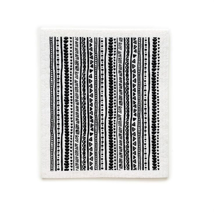 Kerttu Swedish Dishcloth | Black | 8″ x 6.75″ | Vallila