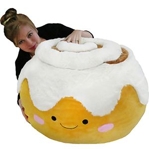 Massive Cinnamon Bun Bean Bag. So huuge. This would be cute for his room lol.