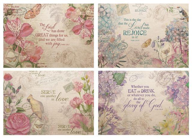 Inspirational Paper Placemat Set