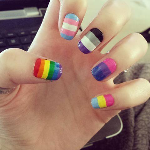 Bild Ergebnis für bisexuelle Nail Art – #art #Bisexuelle #flag #image #nail #Result