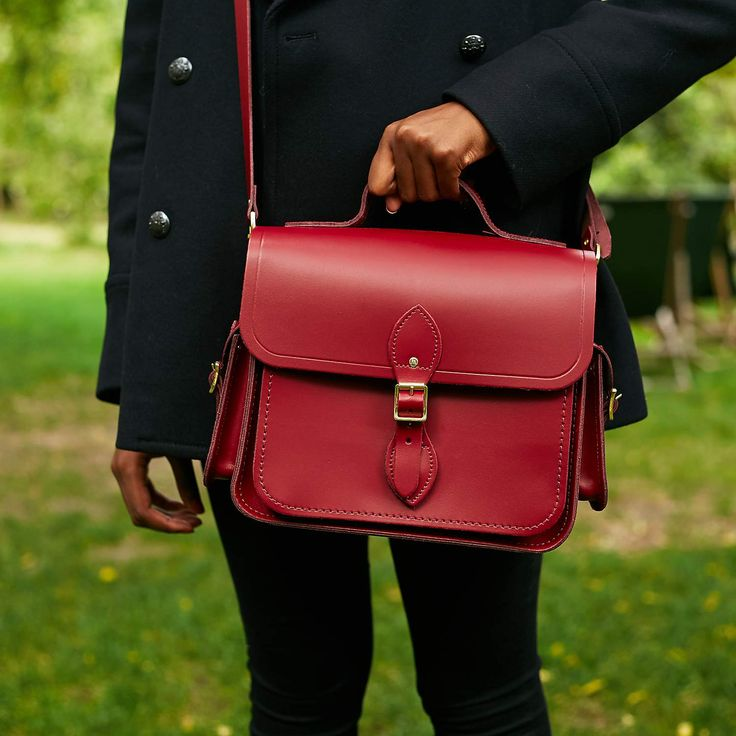 Rhubarb Red Large Traveller Bag with Side Pockets | The Cambridge Satchel Company