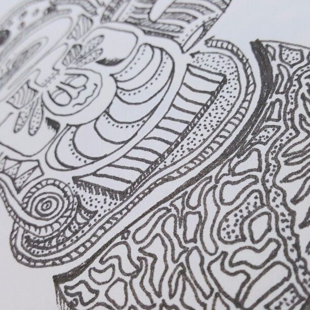 Dizzy! Drawing.. doodle.. pen..