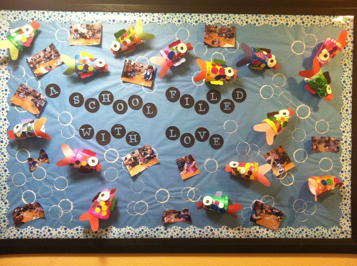 17 best images about creative classroom display on for Fish bulletin board