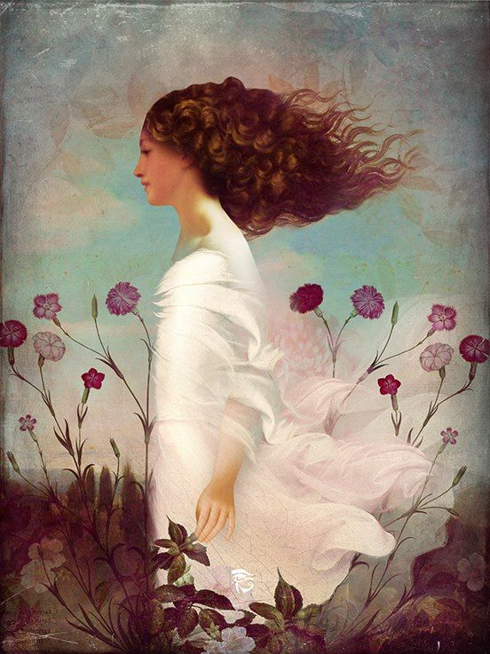 """""""Endless Days of Summer"""" by Christian Schloe Beautiful girl walking into the wind,"""