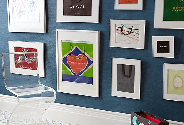 Great way to display all your shopping bag memories.