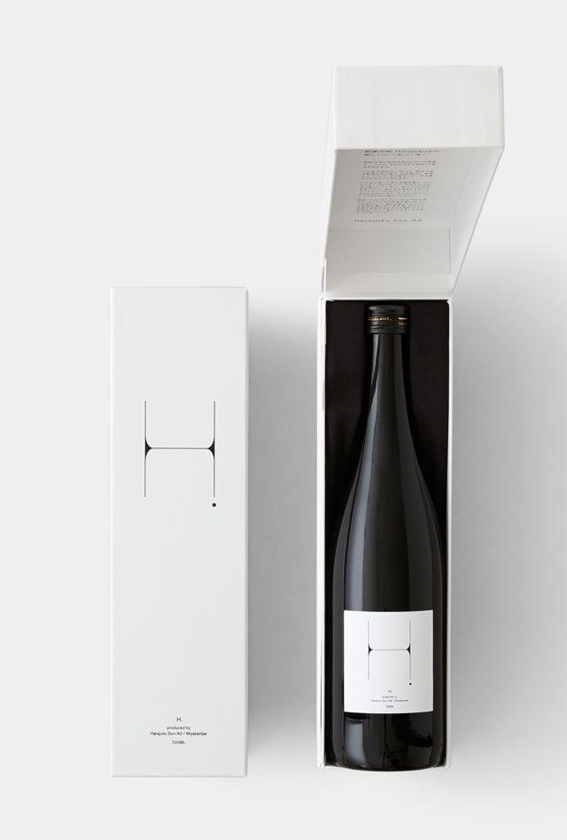 H. | Harajuku Sun-Ad Japanese Sake package design.