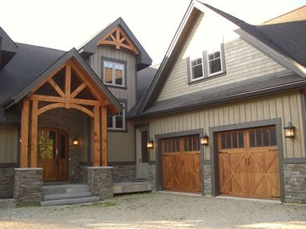 timber entry garage exterior house colors combinationsexterior - Exterior House Color Schemes