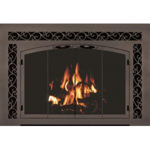 7 best new fireplace doors images on pinterest fire places bar iron arch conversion fireplace glass door just beautiful at fireplacedoorsonline planetlyrics Gallery
