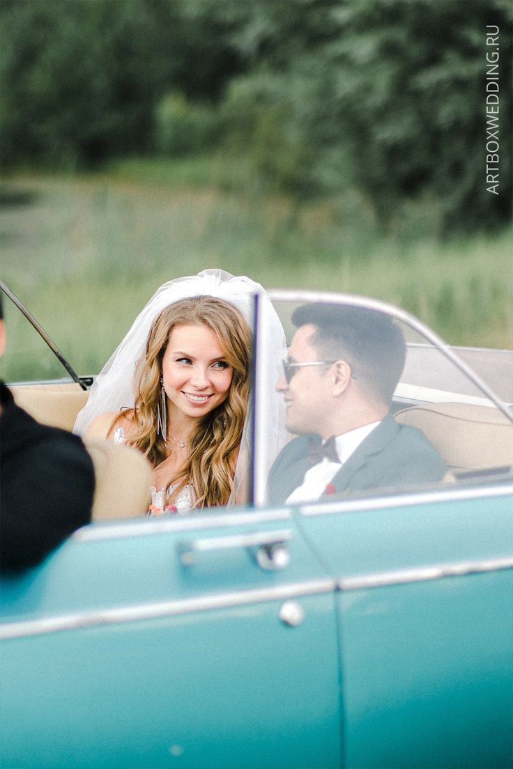 Свадебная фотосессия в машине | Фотосессия, Большие фото ...