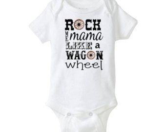 Country Music Baby Onesie Garth Brooks Cool Baby Shower Gift