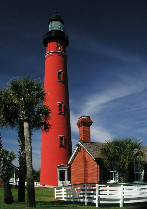 Ponce Lighthouse. I climbed all I believe 214 steps of this light and couldn't come down!   Beautiful View!