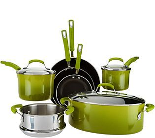 Rachael Ray 10-pc Gradient Porcelain Enamel Cookware Set