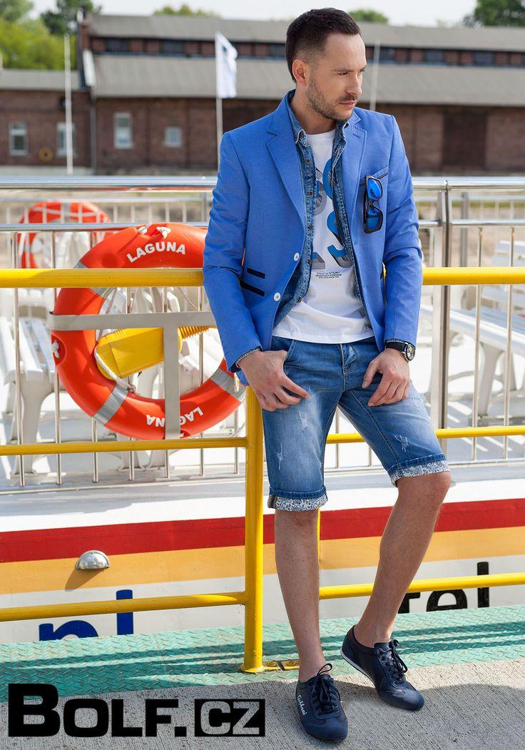 Kalhoty: Y.TWO Y970 T-shirt: GLO-STORY 6068 Košile: BOLF 5751 Sako: JEEL 419 Boty: LUCIO GABBANI 611-1